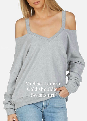 Michael Lauren cold shoulder sweatshirt