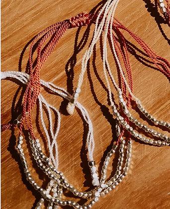 Multi strand bracelet  - clay