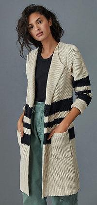 Open knit striped cardi