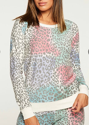 Painted leopard sweatshirt
