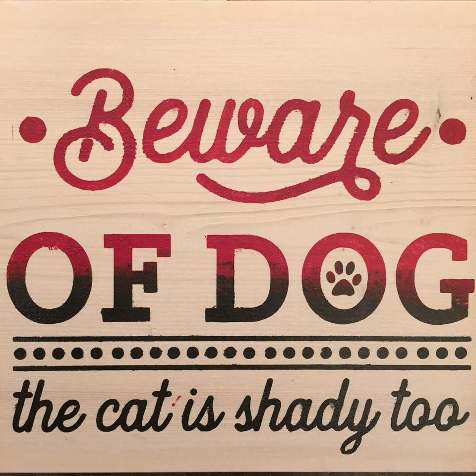 sign beware