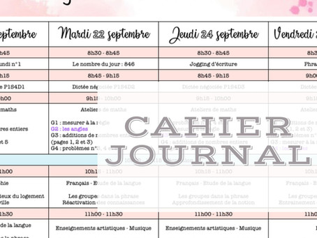 Le cahier journal