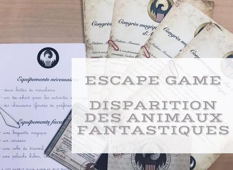 Escape game - Disparition des animaux fantastiques