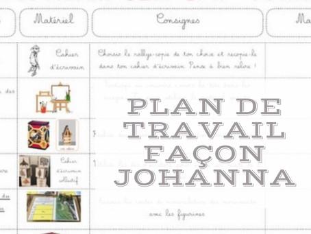 Le plan de travail façon Johanna