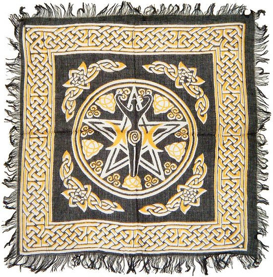 Altar Cloth Pentacle with Goddess