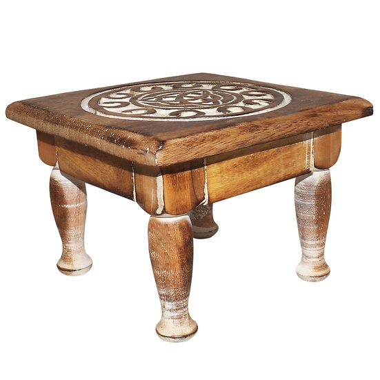 Wood Altar table Triquetra