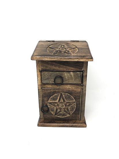 Wooden Storage Almirah Pentacle