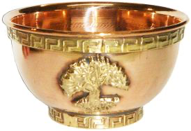 Copper Offering Bowl (Tree of Life)