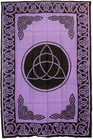 Purple and Black Triquetra Tapestry