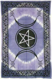 Purple and Black Triple Moon Tapestry