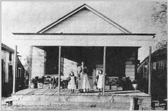 Witt House on Main Street Mrs. Witt with Hazel Elizabeth Graham