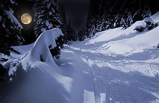In January, we celebrate the aptly-named cold moon. Image (c) Photodisc/Getty Images; Licensed to About.com
