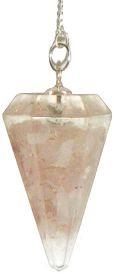 Rose Quartz Orgone Pendulum