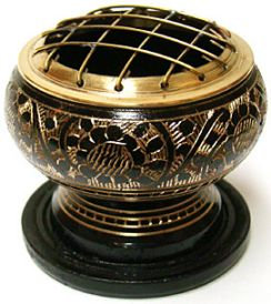 Black and Brass Charcoal Burner