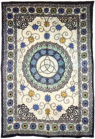 Floral Triquetra Tapestry