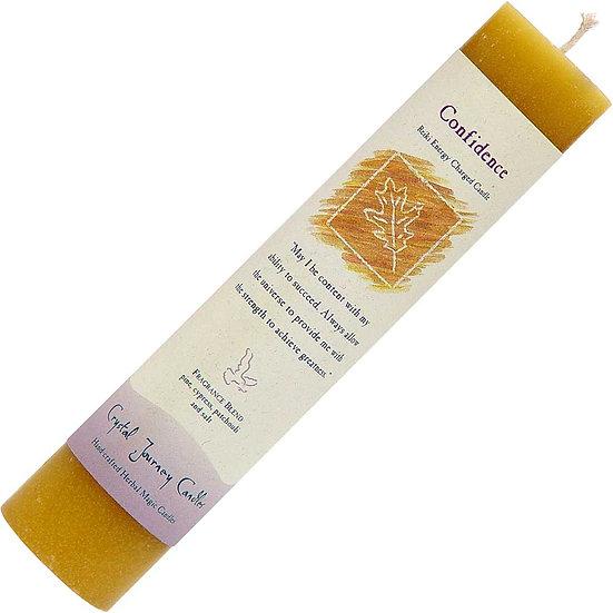 Reiki Herbal Magic Pillar Candles - Confidence