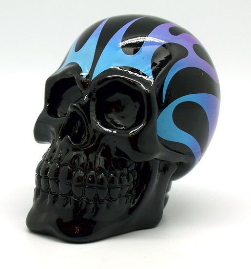 Blue/Purple Flame Skull Bank