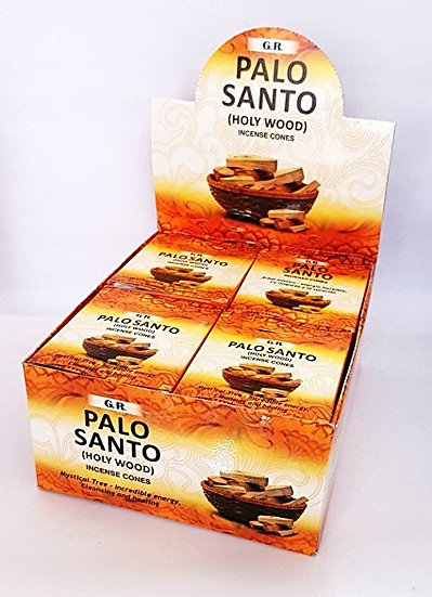 Palo Santo Incense Cones - 1 Box of 10 Cones