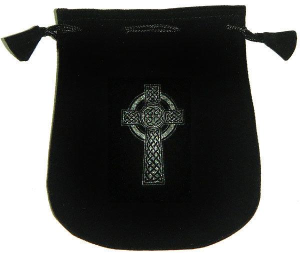Velvet Pouch: Celtic Cross