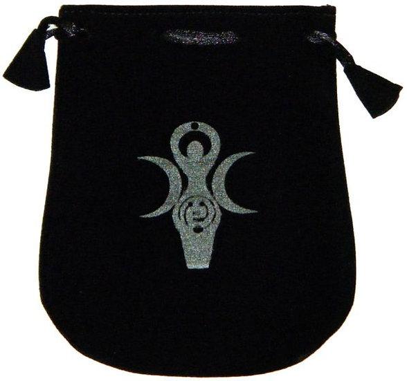Velvet Pouch: Goddess Symbol