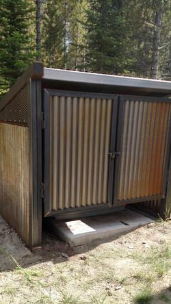 metal generator shed enclosure