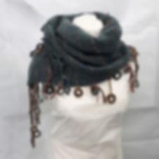 Gull Skull Designs Woven banded Fugil Uren scarf