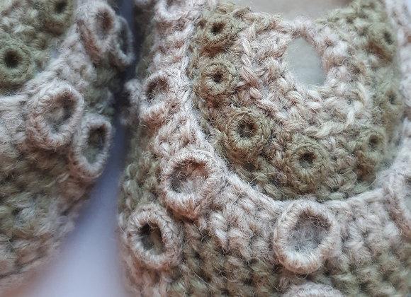 Green Sea Urchin Feetwarmers / Slippers