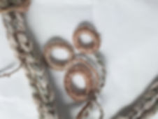 Gull Skull Designs, detail of shell nec rope