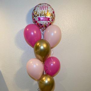 Pink Confetti Birthday Bouquet