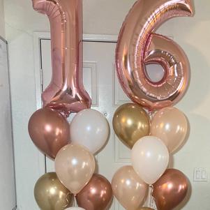 Mylar Number 1/2 Dozen Balloon Bouquets