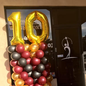 Traditional Balloon Columns w/ Mylar Toppers