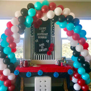Traditional 6-7 ft wide Balloon Arch
