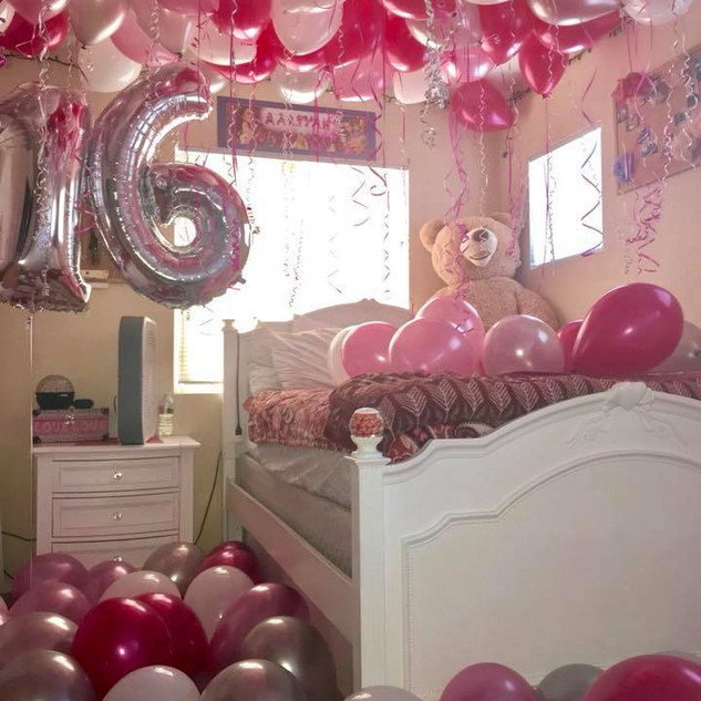 Surprise Decorated Room With Balloons