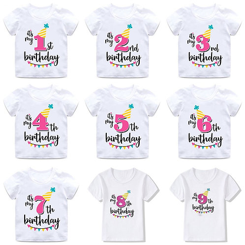 Birthday T Shirts (Customize your own)