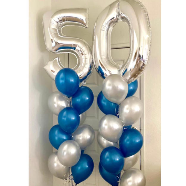 Mylar Number Full Dozen Balloon Bouquets