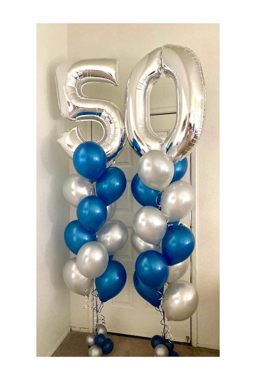 Mylar Number Balloon Bouquet