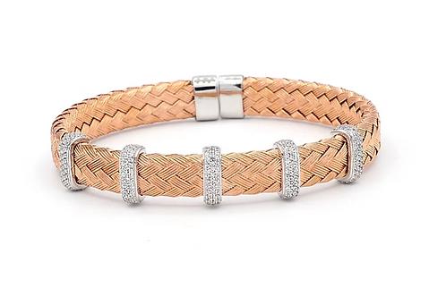 Rose Gold Plated 5 Section Bracelet