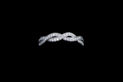 Braided Diamond Band