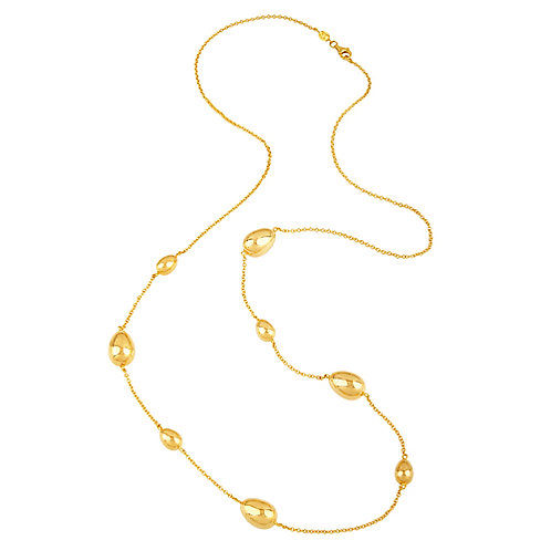 14K Yellow Station Necklace