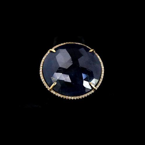 Sliced Sapphire Ring