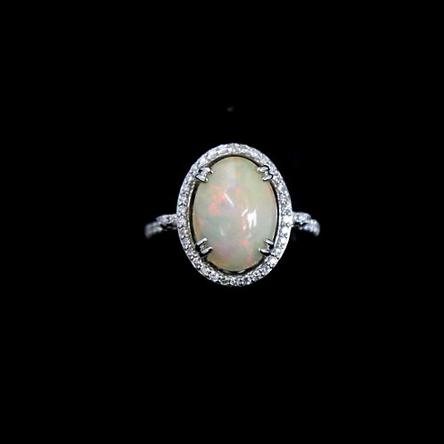 Oval Ethiopian Opal Ring