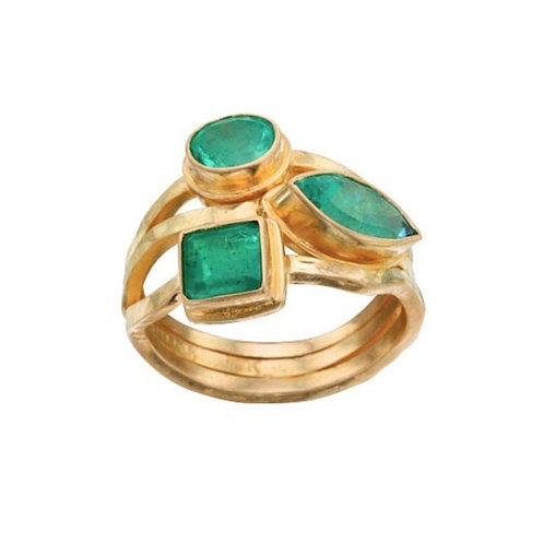 Multifaceted Emerald Ring