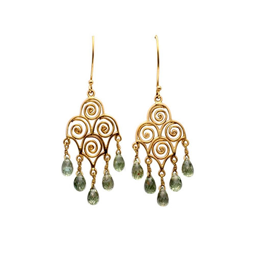 Swirl Chandelier Earrings