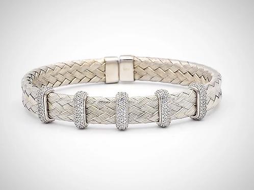 Italian Silver 5 Section Bracelet