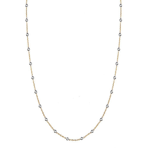 Yellow Diamond by the Inch Necklace