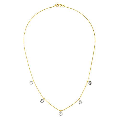 18k Hanging Diamond Necklace