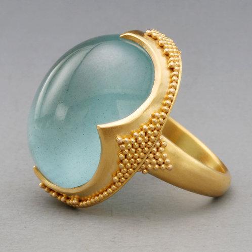 Large Oval Aquamarine Ring