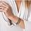 Thumbnail: Black Signature Thin Pave Hinge Bangle