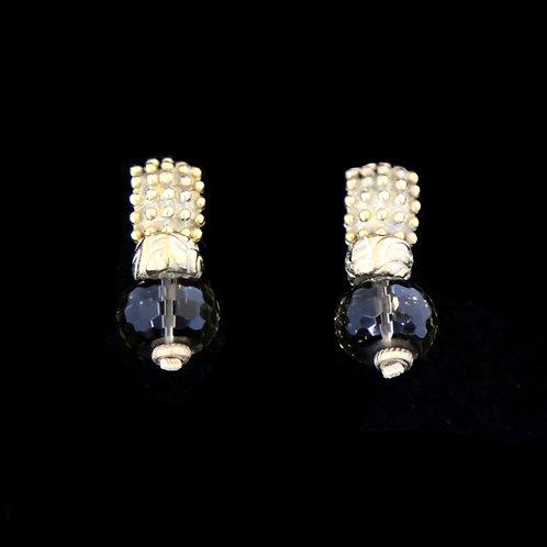 Smokey Topaz Ball Earrings