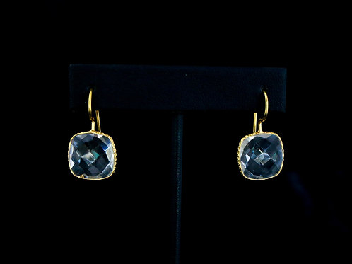 Square Crystal Drop Earrings